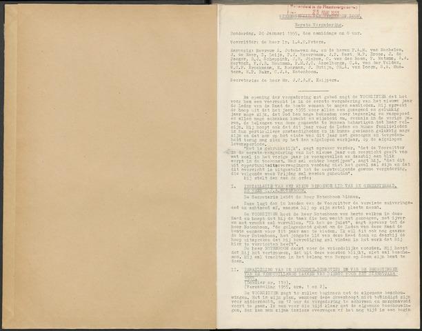 Bergen op Zoom: Notulen gemeenteraad, 1926-1996 1955-01-01