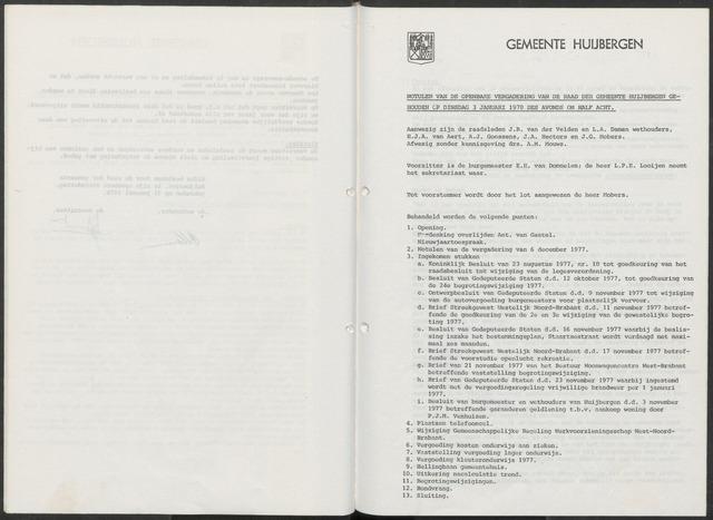 Huijbergen: Notulen gemeenteraad 1935-1996 1978-01-01