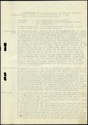Rijsbergen: Notulen gemeenteraad, 1940-1996 1946