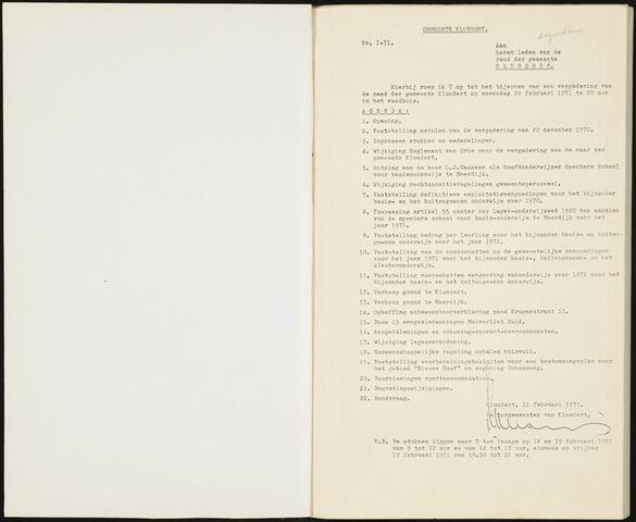Klundert: Notulen gemeenteraad, mei 1933-1996 1971