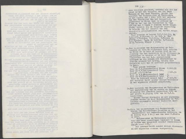 Etten-Leur: Notulen gemeenteraad, 1936-1979 1936-01-01