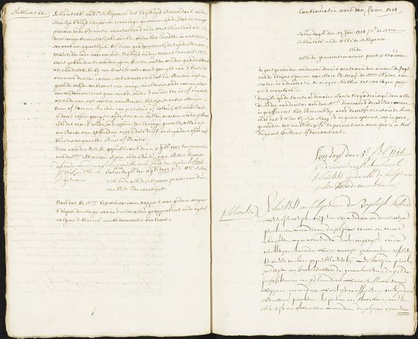 Roosendaal: Registers van resoluties, 1671-1673, 1675, 1677-1795 1714