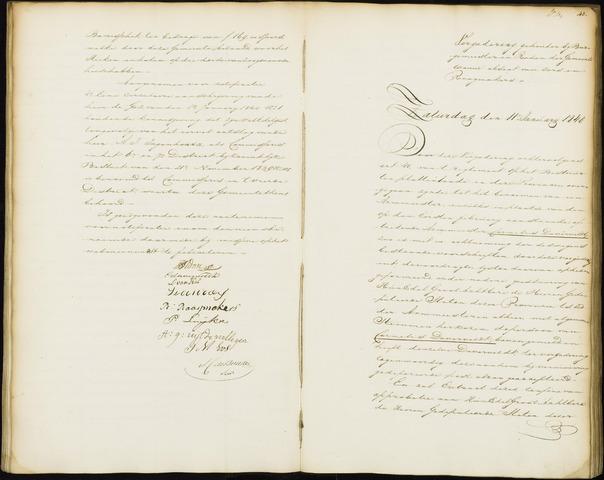 Wouw: Notulen gemeenteraad, 1813-1996 1840