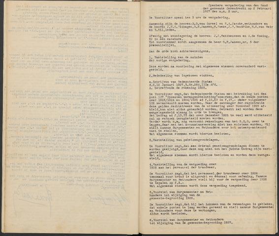 Ossendrecht: Notulen gemeenteraad, 1920-1996 1927