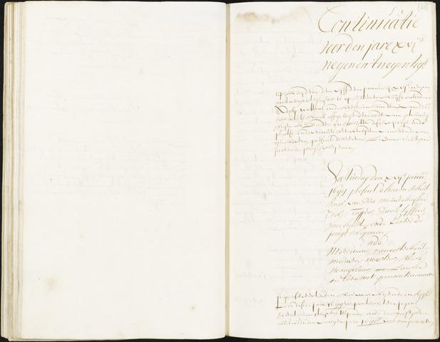 Roosendaal: Registers van resoluties, 1671-1673, 1675, 1677-1795 1699