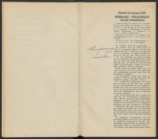 Steenbergen: Notulen gemeenteraad, 1920-1996 1930-01-01