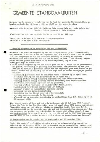 Standdaarbuiten: Notulen gemeenteraad, 1937-1996 1981-01-01