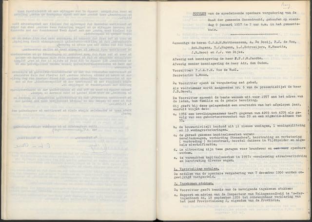 Ossendrecht: Notulen gemeenteraad, 1920-1996 1957