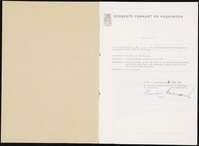 Fijnaart en Heijningen: notulen gemeenteraad, 1934-1995 1969