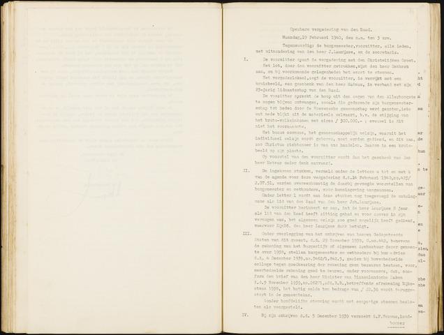 Hoeven: Notulen gemeenteraad, 1928-1996 1940-01-01