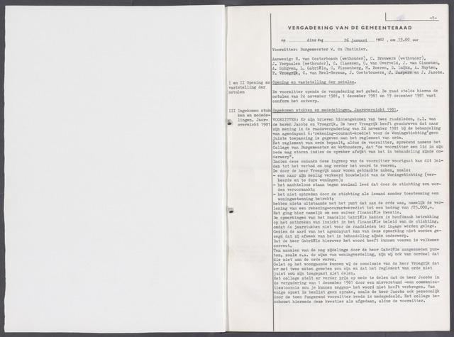 Rucphen: Notulen gemeenteraad, dec. 1949-1998 1982-01-01