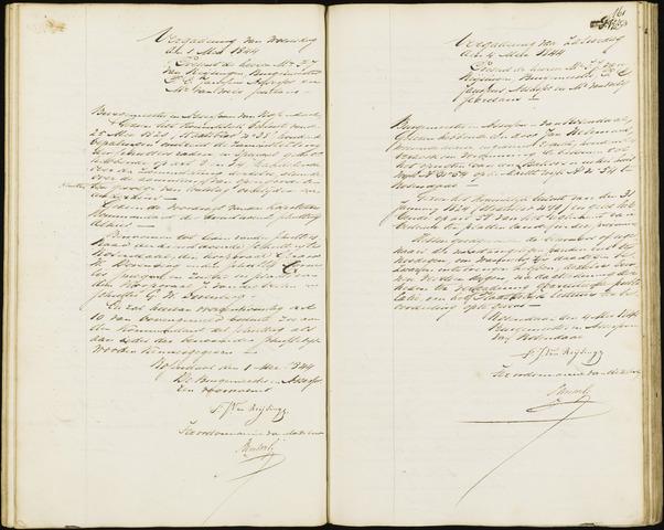 Roosendaal: Notulen van burgemeester en assessoren, 1827-1851 1844