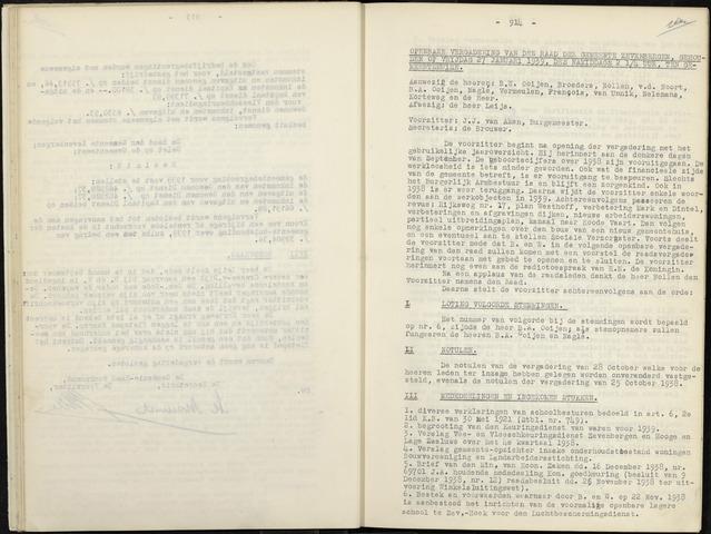 Zevenbergen: Notulen gemeenteraad, 1930-1996 1939-01-01