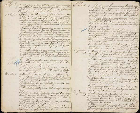 Roosendaal: Inhoudsopgaven notulen, 1849-1903 1865