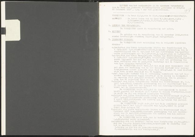 Standdaarbuiten: Notulen gemeenteraad, 1937-1996 1957-01-01