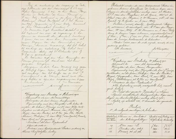 Roosendaal: Notulen gemeenteraad (besloten), 1851-1916 1911