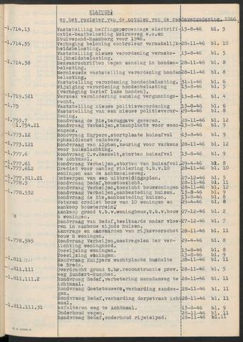 Zundert: Notulen gemeenteraad, 1934-1988 1946-01-01