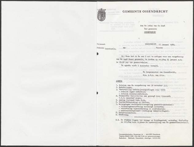 Ossendrecht: Notulen gemeenteraad, 1920-1996 1980