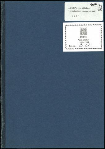 Putte: Notulen gemeenteraad, 1928-1996 1973-01-01
