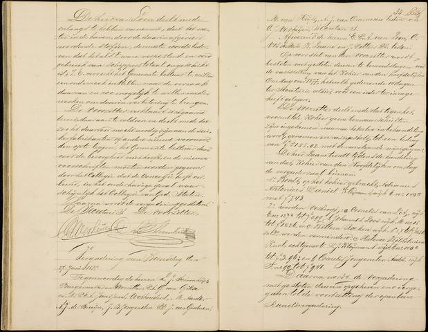 Roosendaal: Notulen gemeenteraad (besloten), 1851-1916 1877