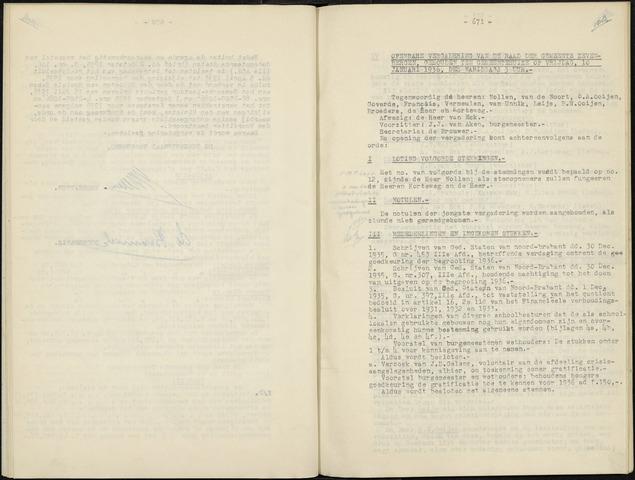 Zevenbergen: Notulen gemeenteraad, 1930-1996 1936-01-01