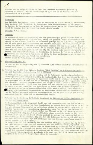Rijsbergen: Notulen gemeenteraad, 1940-1996 1965