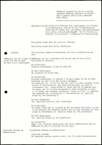 Zundert: Notulen gemeenteraad, 1934-1988 1979-01-01