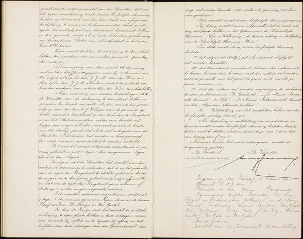 Roosendaal: Notulen gemeenteraad (besloten), 1851-1916 1908