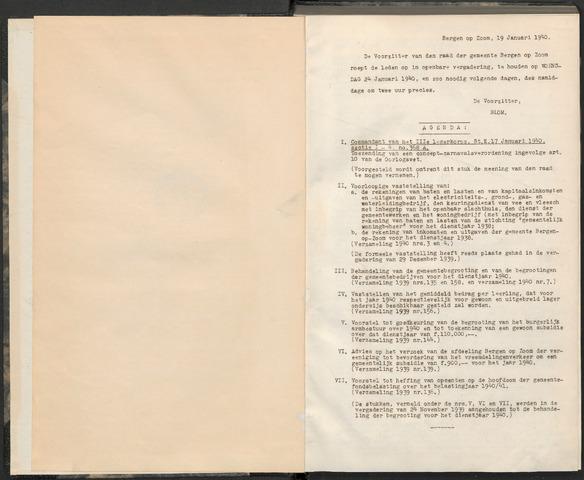 Bergen op Zoom: Notulen gemeenteraad, 1926-1996 1940-01-01