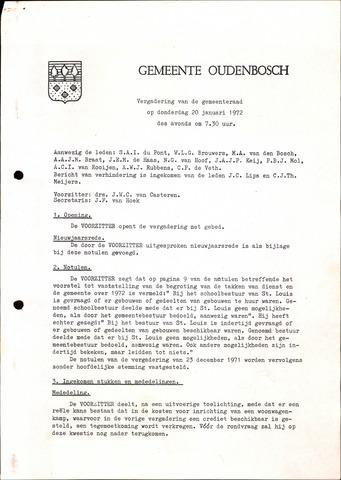 Oudenbosch: Notulen gemeenteraad, 1939-1994 1972-01-01