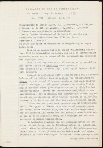 Fijnaart en Heijningen: notulen gemeenteraad, 1934-1995 1953