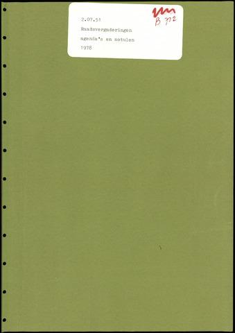 Putte: Notulen gemeenteraad, 1928-1996 1978-01-01