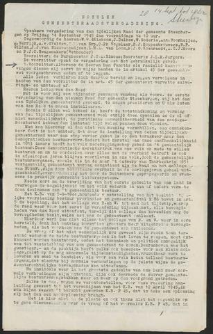 Steenbergen: Notulen gemeenteraad, 1920-1996 1945-01-01