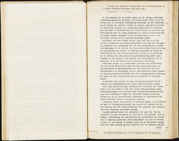 Hoeven: Notulen gemeenteraad, 1928-1996 1948-01-01