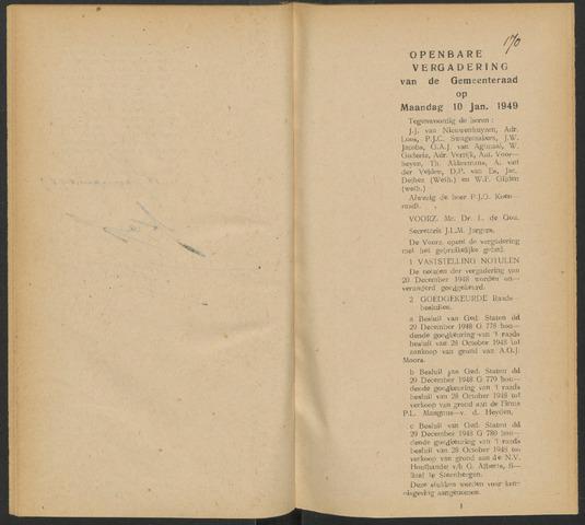Steenbergen: Notulen gemeenteraad, 1920-1996 1949-01-01
