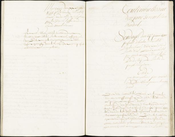 Roosendaal: Registers van resoluties, 1671-1673, 1675, 1677-1795 1700