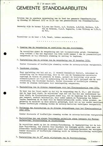 Standdaarbuiten: Notulen gemeenteraad, 1937-1996 1975-01-01
