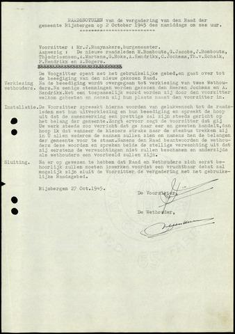 Rijsbergen: Notulen gemeenteraad, 1940-1996 1945