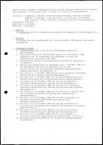 Dinteloord: Notulen gemeenteraad, 1946-1996 1987
