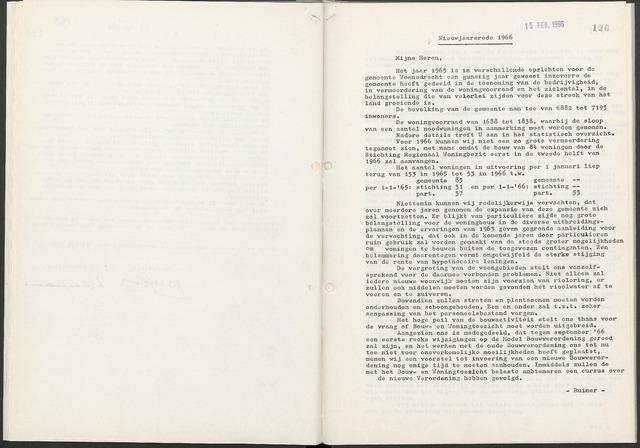 Woensdrecht: Notulen gemeenteraad, 1922-1996 1966-01-01