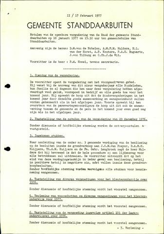 Standdaarbuiten: Notulen gemeenteraad, 1937-1996 1977-01-01
