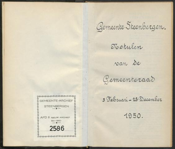 Steenbergen: Notulen gemeenteraad, 1920-1996 1950-01-01