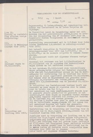 Rucphen: Notulen gemeenteraad, dec. 1949-1998 1952-01-01