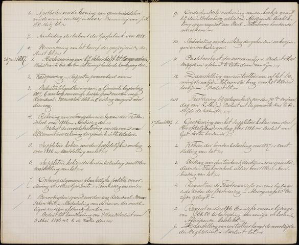 Roosendaal: Inhoudsopgaven notulen, 1849-1903 1887