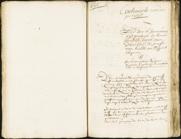 Roosendaal: Registers van resoluties, 1671-1673, 1675, 1677-1795 1695