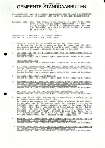 Standdaarbuiten: Notulen gemeenteraad, 1937-1996 1996-01-01