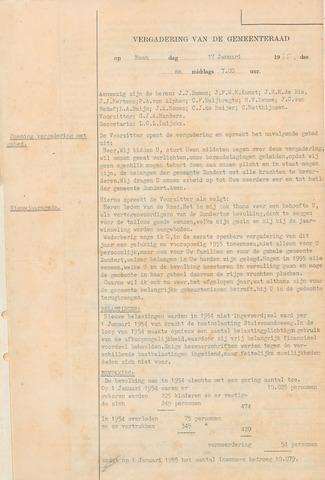 Zundert: Notulen gemeenteraad, 1934-1988 1955-01-01