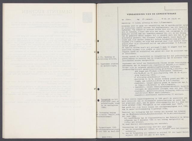 Rucphen: Notulen gemeenteraad, dec. 1949-1998 1966-01-01