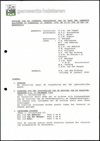 Halsteren: Notulen gemeenteraad, 1960-1996 1996
