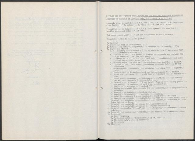 Huijbergen: Notulen gemeenteraad 1935-1996 1976-01-01